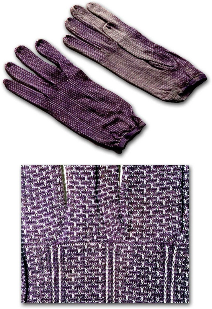 Silk gloves from the mid Nineteenth Century