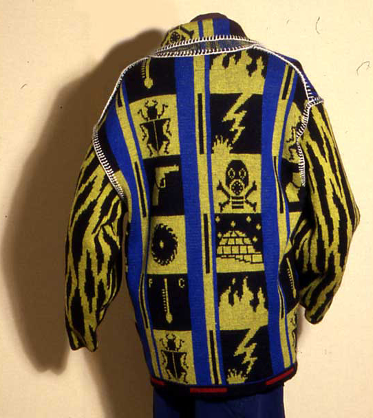 G Force knitted jacket by Robin Kerr