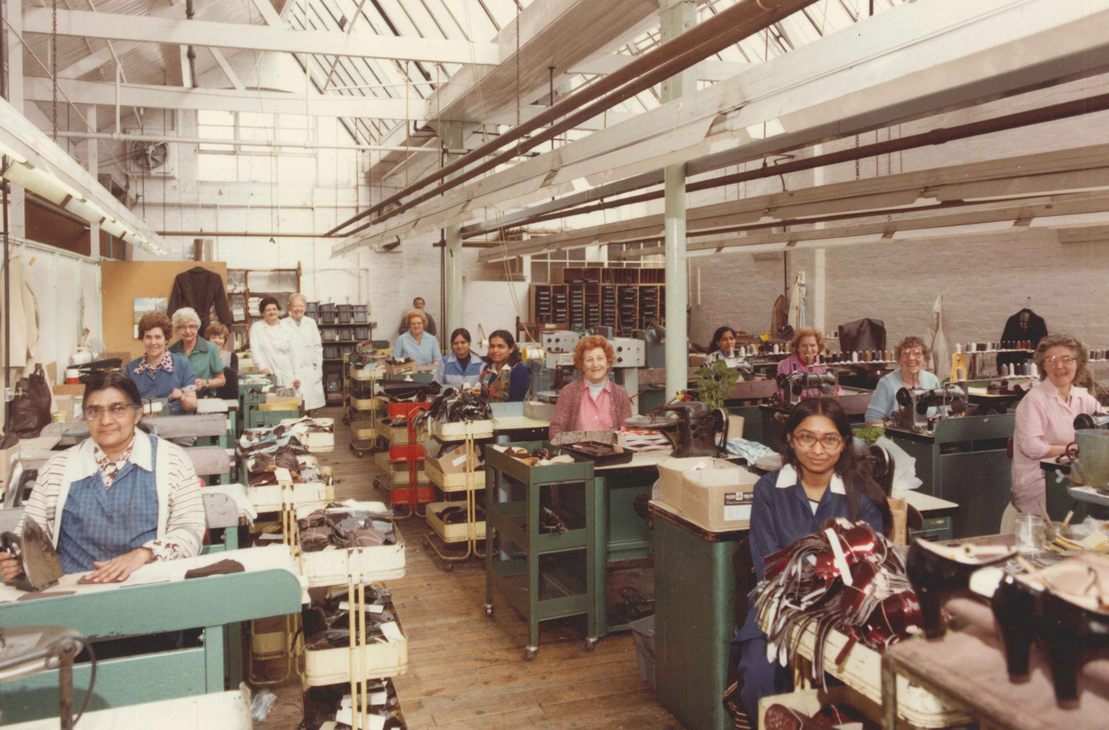Shoe factory workers in Leicester