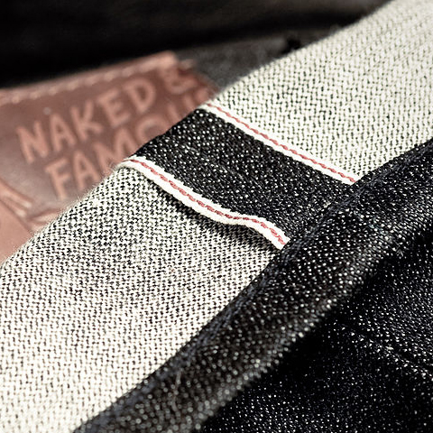 Selvedge on denim jeans, photo by Jeff Nelson